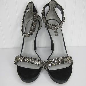 White by Vera Wang Crystal Encrusted Heels Size 11